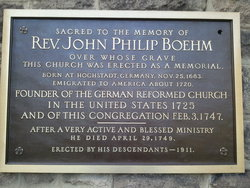 Rev John Philip Boehm