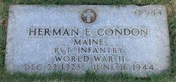 Pvt Herman E Condon