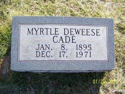 Myrtle A <i>DeWeese</i> Cade