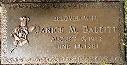 Janice Mae <i>Claunch</i> Babbitt