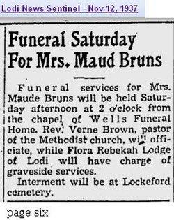 Maud <i>Madison</i> Bruns