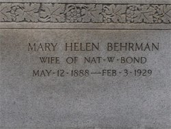 Mary Helen <i>Behrman</i> Bond