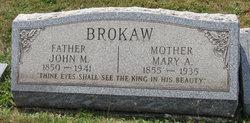 Mary Alice <i>Cain</i> Brokaw