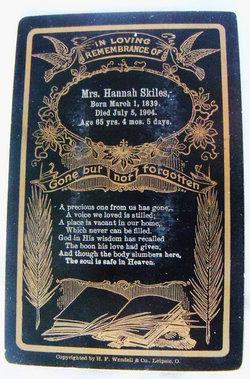 Hannah Jane <i>Lancaster Bates</i> Skiles