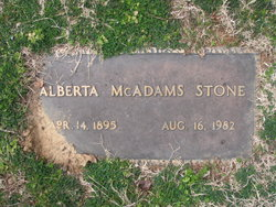 Alberta McAdams Stone