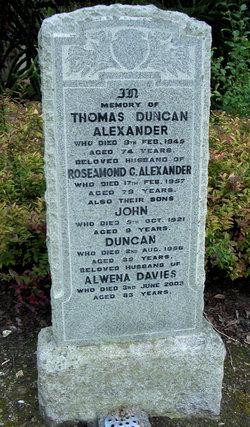Alwena <i>Davies</i> Alexander