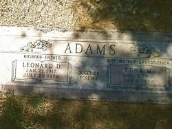 Leonard D Adams