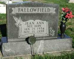 Jean Ann <i>Hopf</i> Fallowfield