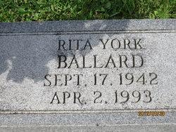 Rita <i>York</i> Ballard