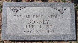 Ora Mildred <i>Medlen</i> Bonney