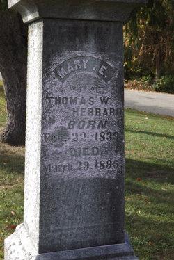 Mary E. <i>Edwards</i> Hebbard