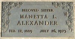 Louisa Manetta Nettie <i>Hawks</i> Alexander