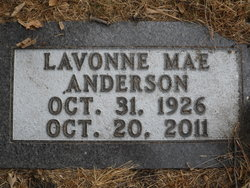 Lavonne Mae <i>Johnson</i> Anderson