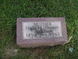 Hallie M <i>O'Bannon</i> Anderson