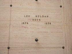 Lee Huldah <i>Hawkins</i> Beck