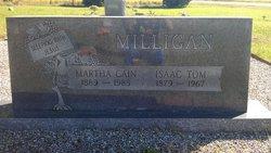 Martha Jane Mattie <i>Cain</i> Milligan