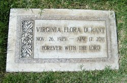 Virginia Flora <i>Mathias</i> Durant