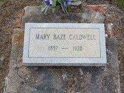 Mary <i>Baze</i> Caldwell