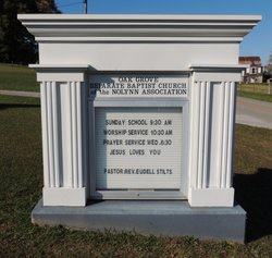 Oak Grove Separate Baptist Nolynn Assn. Cemetery