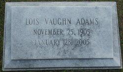Lois <i>Vaughn</i> Adams