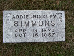 Addie <i>Simmons</i> Binkley