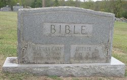 Martha <i>Cash</i> Bible