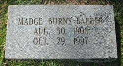 Madge <i>Burns</i> Barber