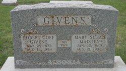 Mary Susan <i>Madden</i> Givens
