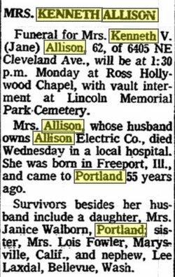 Elizabeth Jane <i>Baumgarten</i> Allison