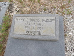 Frances Fannie <i>Giddens</i> Barlow