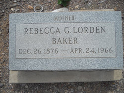 Rebecca Gertrude <i>Lorden</i> Baker