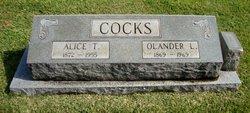 Alice C <i>Tomlinson</i> Cocks