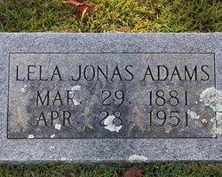 Lela Gertrude <i>Jonas</i> Adams