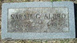 Sarah Gertrude <i>Beckwith</i> Albro