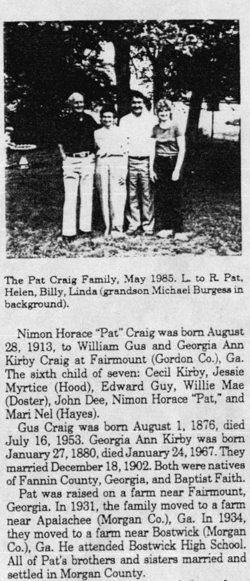 Nimon Horace Pat Craig