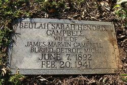 Beulah Sarah <i>Hendrix</i> Campbell