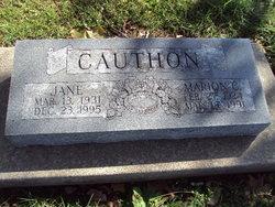 Jane <i>Harwick</i> Cauthon
