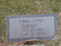 Emma <i>Lang</i> Hammett