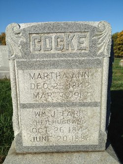 Martha Ann <i>Luster</i> Cocke