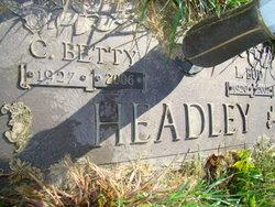 Clara Elizabeth Betty <i>Peters</i> Headley