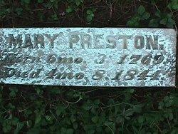 Mary <i>Moore</i> Preston