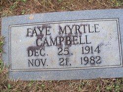 Mrs Faye Myrtle <i>Davis</i> Campbell
