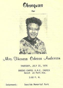 Theresa Odessa <i>McCall</i> Anderson