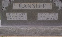 Myrtle Ann <i>Workman</i> Cansler