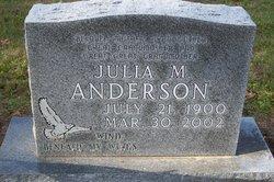 Julia M <i>Heiser</i> Anderson