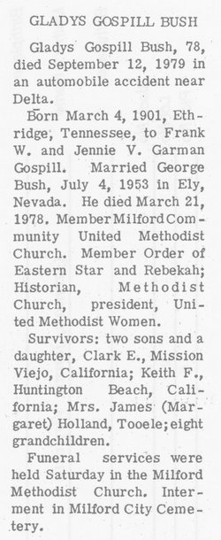 Gladys Virginia <i>Gospill</i> Bush