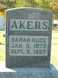 Sarah Alice <i>Winter</i> Akers