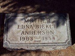Edna <i>Bickle</i> Anderson