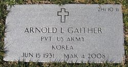 Pvt Arnold L Gaither