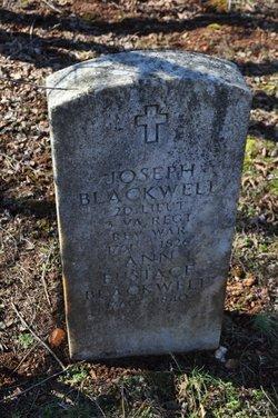 Lieut Joseph Blackwell